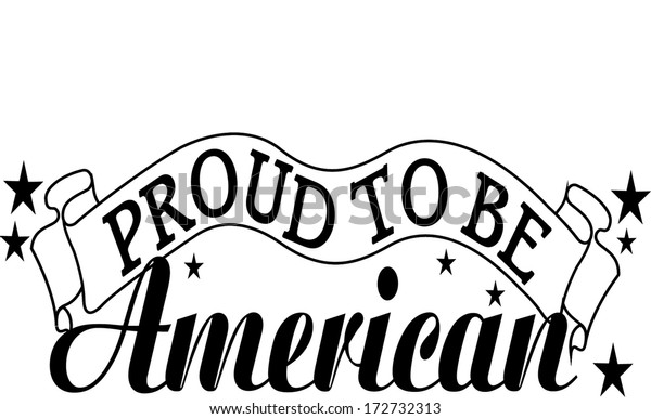 Proud to Be an American Clip Art