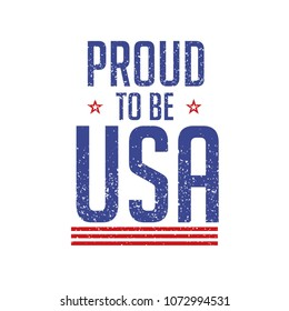 PROUD TO BE USA SHIRT PRINTING VECTOR DESIGN