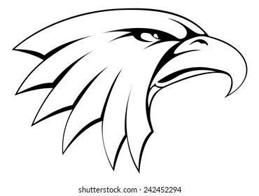 A proud powerful looking bald eagle head icon