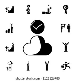 proven cloud icon. Detailed set of Sucsess and awards icons. Premium quality graphic design sign. One of the collection icons for websites, web design, mobile app on white background