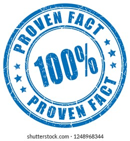 Proven fact 100 guarantee vector stamp isolated on white background