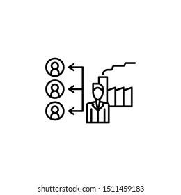 Provision icon. Element of procurement process thin line icon
