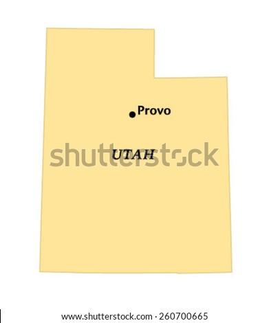 Provo Utah Locate Map Stock Vector Royalty Free 260700665
