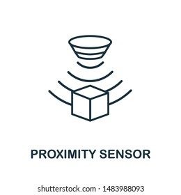 Proximity Sensor outline icon. Thin line style from sensors icons collection. Pixel perfect simple element proximity sensor icon for web design, apps, software, print usage.