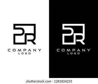 pr/rp Letters Logo Design. Simple and Creative Letter Concept Illustration vector