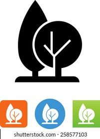 Pruned trees icon