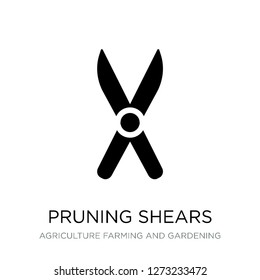 pruning shears icon vector on white background, pruning shears trendy filled icons from Agriculture farming and gardening collection, pruning shears simple element illustration