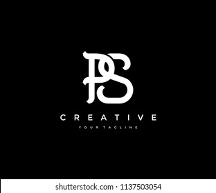 PS Creative Linked Vintage Vector Logo