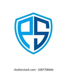 ps initial logo design,electric logo
