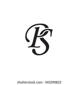 PS initial monogram logo