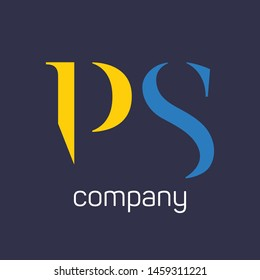 PS logo design. Monogram. Company logo. Letters P and S.