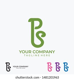 PS logo line art monogram. Letter PS on a white background. Letter PS vector logo. Business sign, identity, label, badge. vector eps10 editable