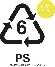 PS polystyrene recycling code
