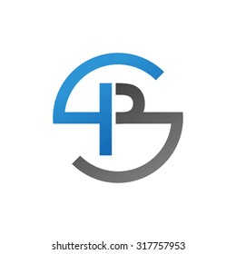 PS SP initial company circle S logo blue