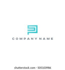 Ps Sp  logo. Letter monogram
