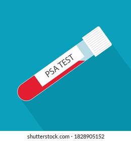 PSA (Prostate-Specific Antigen) blood test tube- vector illustration