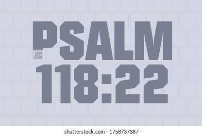 Psalm 118:22 Bible Scripture Cornerstone Verse