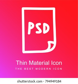 Psd Photoshop file hand drawn symbol red and pink gradient material white icon minimal design