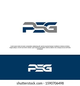 PSG initials for service companies, service group logos, combined overlap logo letters