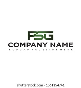 PSG LOGO COMPANY NAME INITIAL, SIMPLE AND ELEGANT DESIGN.