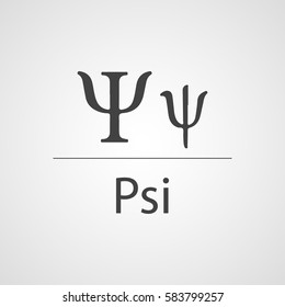 Psi latin letter vector icon