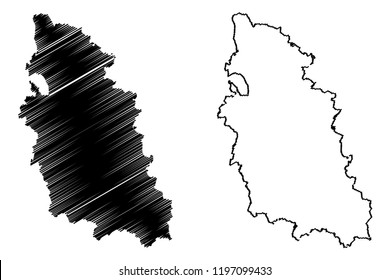 Pskov Oblast (Russia, Subjects of the Russian Federation, Oblasts of Russia) map vector illustration, scribble sketch Pskov Oblast map
