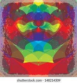 Psychedelic background. Vector illustration EPS10