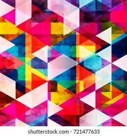psychedelic colored polygons geometric abstract pattern grunge texture