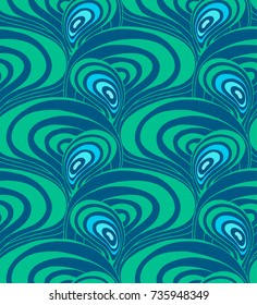 Psychedelic colorful seamless vector pattern in the 60's and 70's style.