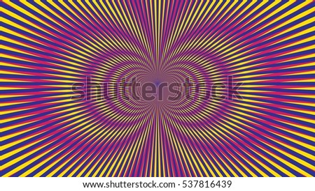 Psychedelic Explosion Illusion Wallpaper Fashion Abstract Pattern Vector Blue Yellow Red