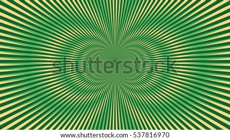 Psychedelic Explosion Illusion Wallpaper Fashion Abstract Pattern Vector Green
