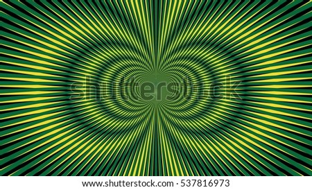 Psychedelic Explosion Illusion Wallpaper Fashion Abstract Pattern Vector Green Yellow Jamaica Colors