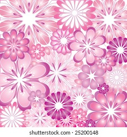 A psychedelic flowery vector illustration