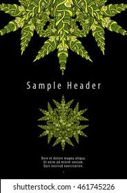 Psychedelic Marijuana Cannabis Flyer Poster Art Template Vector Illustration