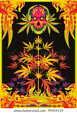 psychedelic music party flyer background colorful のベクター画像