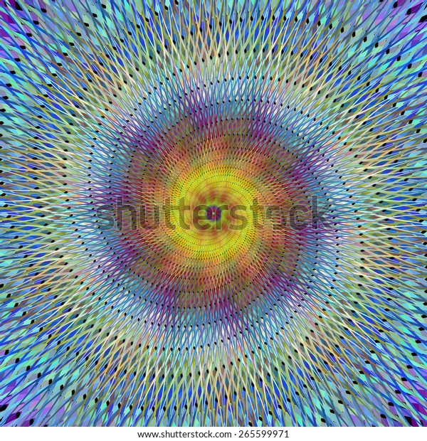 Psychedelic spiral fractal