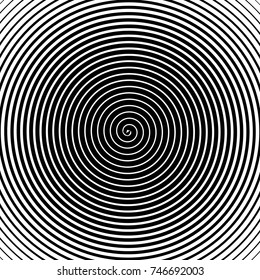 psychedelic spiral with radial rays, twirl, twisted comic effect, vortex backgrounds. Hypnotic spiral