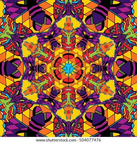 psychedelic trippy hippie 60 s colors magic stock vector royalty