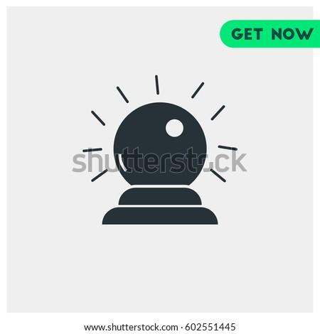 Psychics Ball Vector Icon Symbol Magical Stock Vector
