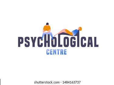 Psychologist, psychotherapist centre. Creative concept useful for logotype, pictogram, symbol design. Editable vector illustration in trendy colors. Phycology, Physiology, Psychiatry image