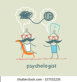 psychologist says to the patient, and solves problems