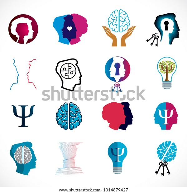 Psychology Brain Mental Health Vector Conceptual Stock