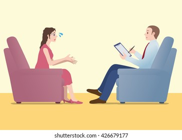 psychology counselor, mental counseling, image illustration
