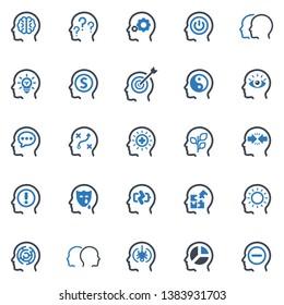 Psychology Icon Set (Blue Series)