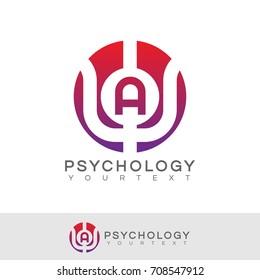 psychology initial Letter A Logo design