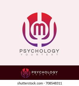 psychology initial Letter M Logo design