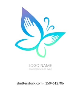 psychology, therapy and mental health logo type