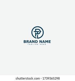 PT Letter Logo Design Template Vector