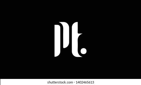 PT logo design template vector illustration minimal design