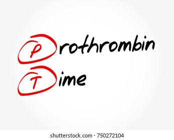PT - Prothrombin Time acronym, concept background